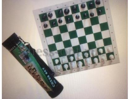 Шахматы пластиковые с доской в тубусе