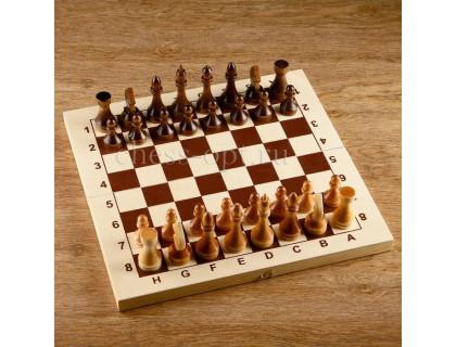 Турнирные шахматы в комплекте с доской 43*43 см оптом