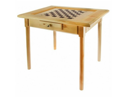 Стол шахматный светлый с фигурами и  ящиком (простые ножки) 80*60см оптом