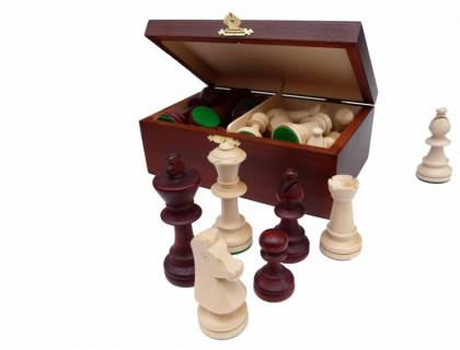 Шахматные фигуры Стаунтон 5 в деревянном ларце купить оптом