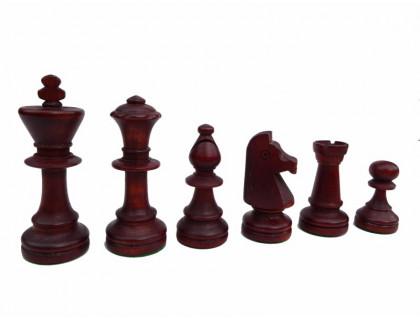 Шахматные фигуры деревянные Стаунтон №6 с утяжелителем оптом