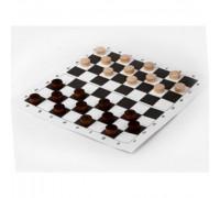 Шашки в комплекте с шахматным полем из картона