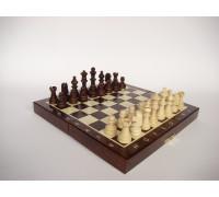 Шахматы магнитные деревянные мини 20 см