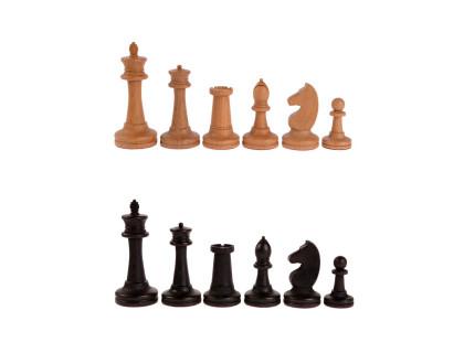Фигуры деревянные шахматные Баталия №7 с утяжелителем оптом