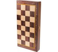 Доска складная деревянная турнирная шахматная Баталия 48