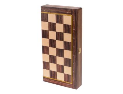 Доска складная деревянная турнирная шахматная Баталия 37 оптом