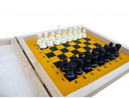 Шахматы Магнитные Мини в деревянной коробке оптом