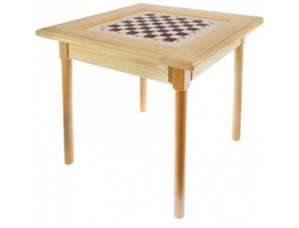 Стол шахматный светлый без фигур (простые ножки) оптом