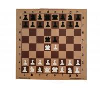 Шахматная демонстрационная доска Гроссмейстер 100 коричневая