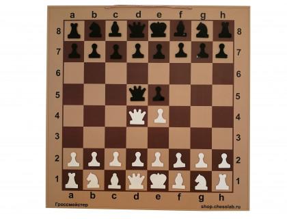 Шахматная демонстрационная доска Гроссмейстер 125 коричневая оптом
