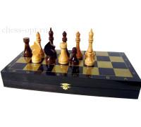 Гроссмейстерские шахматы в комплекте с доской Black