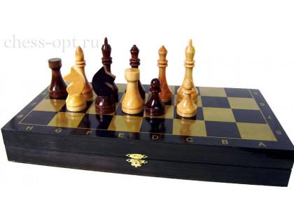 Гроссмейстерские шахматы в комплекте с доской Black оптом