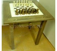 Шахматный стол гроссмейстерский модерн с фигурами и выдвижными ящичками