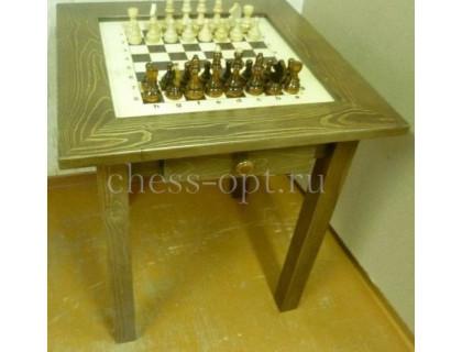 Шахматный стол гроссмейстерский модерн с фигурами и выдвижными ящичками оптом