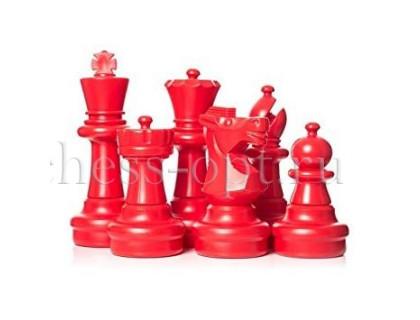 Напольные фигуры шахматные гигантские 61 красно-белые оптом