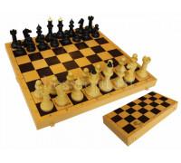 Шахматы-шашки Айвенго обиходные (пластик) с шахматной доской (пластик) 30 см