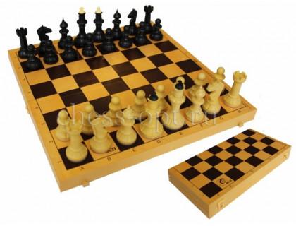 Шахматы Айвенго обиходные (пластик) с шахматной доской (дерево) 30 см оптом