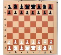 Шахматная демонстрационная доска Гроссмейстер 125 бежевая