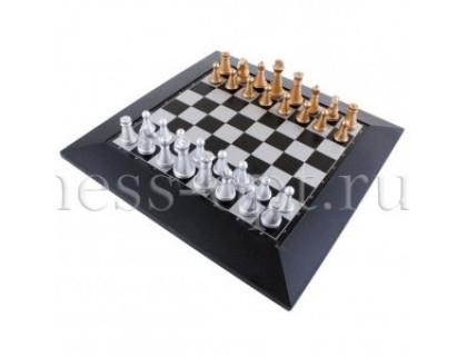 Шахматы магнитные золото-серебро с цельной доской
