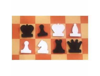 Фигуры к шахматной демонстрационной доске 60-80 см магнитные  оптом