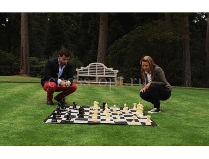 Напольные мини шахматы 21 Бежевые оптом