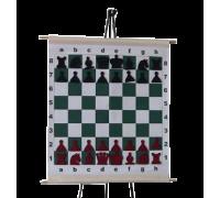 Шахматная демонстрационная доска виниловая с карманами