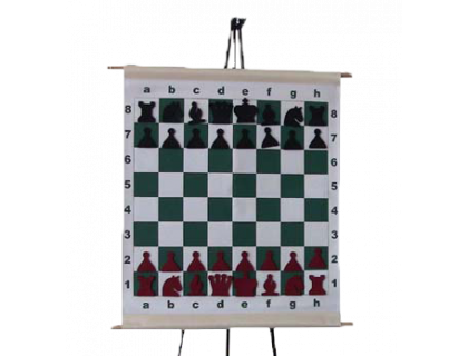 Шахматная демонстрационная доска виниловая с карманами оптом
