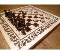 """Набор шахматы и шашки """"Два в одном"""""""