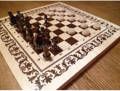 """Набор шахматы и шашки """"Два в одном"""" оптом"""