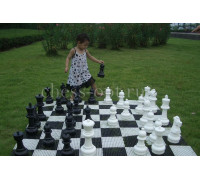 Напольные средние шахматы 41 с доской (винил)