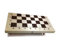 Деревянная шахматная доска малая