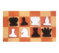 Фигуры к шахматной демонстрационной доске 90-100 см магнитные