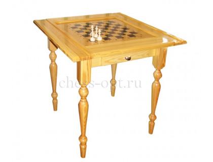 Стол шахматный Люкс + фигуры c выдвижными ящиками оптом