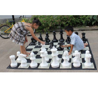 Напольные малые шахматы 29 с доской (винил)