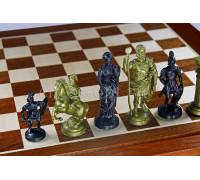Шахматные фигуры Римский дизайн пластиковые золотые