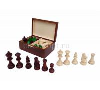 Шахматные фигуры Стаунтон 5 в деревянном ларце Wiegel